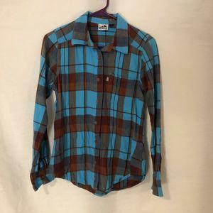 Kavu Womens Small Blouse Button Down Shirt 1373